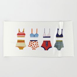 Les bikinis rétro Beach Towel