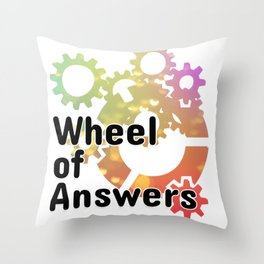 Wheel of Answers Throw Pillow