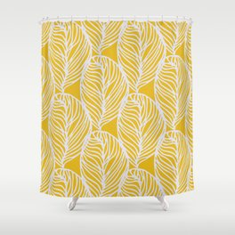 Petaluma, yellow Shower Curtain