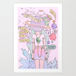 GIRLIE--Draw Art Print