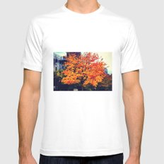 Autumn leaves White Mens Fitted Tee MEDIUM