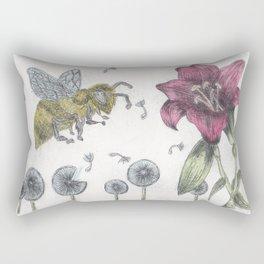 Bee Happy 2 Rectangular Pillow