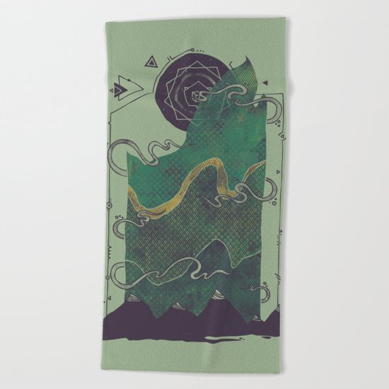Northern Nightsky Beach Towel
