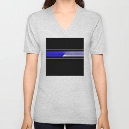 Team Colors 5...Blue Unisex V-Neck