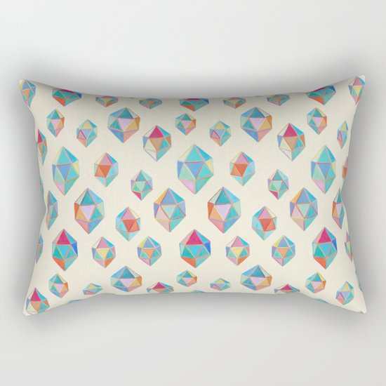 Floating Gems - a pattern of painted polygonal shapes Rectangular Pillow