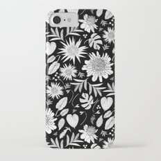 TROPICAL FLORAL BLACK & WHITE Slim Case iPhone 7