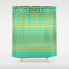 Gold   Greek Shower Curtain