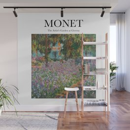 Monet - The Artist's Garden at Giverny Wall Mural