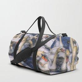 Swans Of Summer Duffle Bag