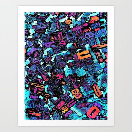 Pop Art Typeset Art Print