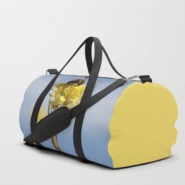 Honey bee on a wildflower Duffle Bag
