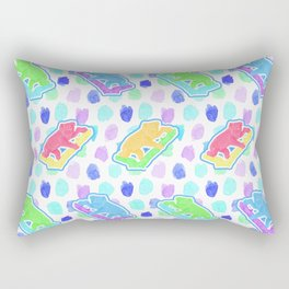 Beautiful Australian Native Animal Print - Cute Koalas Rectangular Pillow