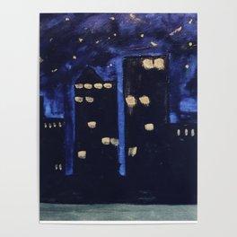 Haute Blue Night Poster