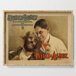 Vintage poster - Hurly Burly Extravaganza and Refined Vaudeville Serving Tray