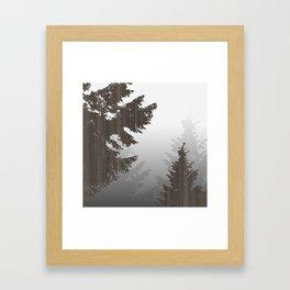 Norway Black Framed Art Print