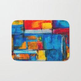 painting abstract Bath Mat