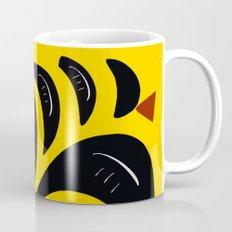 African Yellow abstract minimal and pop art design Mug