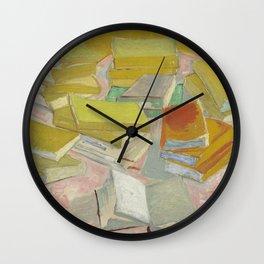 Vincent Van Gogh - Still Life - French Novels Wall Clock