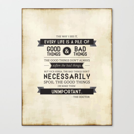 Good Things & Bad Things Canvas Print