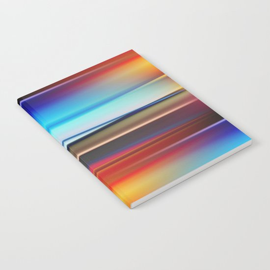 Stripes colorful and shiny Notebook