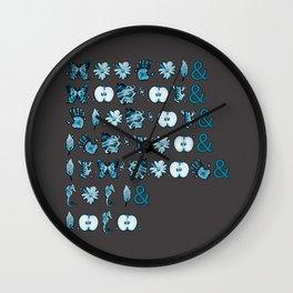 Fringe Glyph List (Grey) Wall Clock