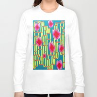 tiki Long Sleeve T-shirts featuring Tiki Torture by Katie Anderson Art