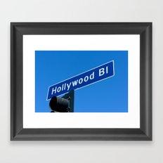 hollywood blvd sign Framed Art Print