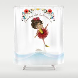 Custom Portrait at Rupydetequila Shower Curtain