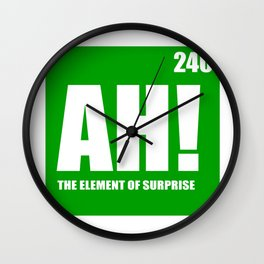 The Element of Surprise Wall Clock