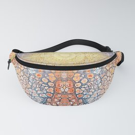 Earth Chakra - Abstract Nature Marble Boho Gold Glitter Pattern Fanny Pack
