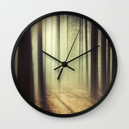 The Light in the Forest Wall Clock