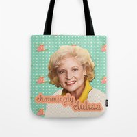 golden girls Tote Bags featuring Golden Girls - Rose by courtneeeee