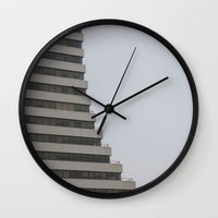 building Wall Clocks featuring Building by RMK Photography