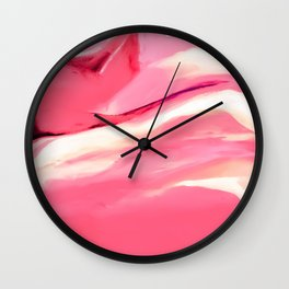 Pink Abstract Painting Wall Clock