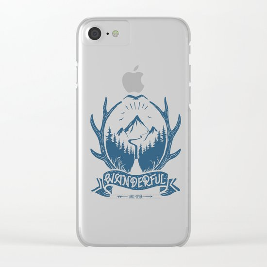 wanderful! Clear iPhone Case