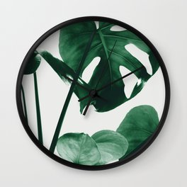 Monstera Vibes #1 #minimal #green #decor #art #society6 Wall Clock