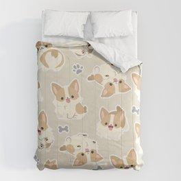cute corgi pattern  Comforters