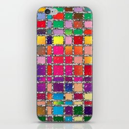 Stained Glass Window Multicolour Pattern iPhone Skin
