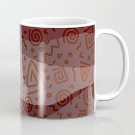 ETHNO PATTERN Modern   red Coffee Mug