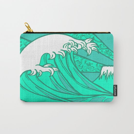 FRESH WAVE AND MOUNTAIN Carry-All Pouch