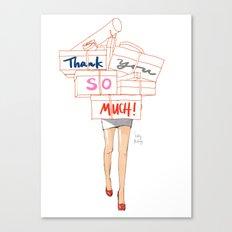 Shopacholic Says Thank You Canvas Print