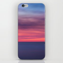 Red sunset over the ocean iPhone Skin