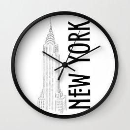 New York Chrysler Wall Clock