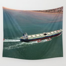 Ore Ship to Port Wall Tapestry