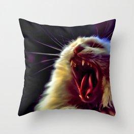 CAT !!! Throw Pillow