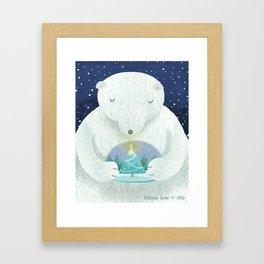 Holiday Polar Bear Framed Art Print