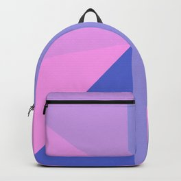 Geometrical modern pastel pink lilac blue stripes triangles Backpack