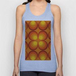 70s Circle Design - Orange Background Unisex Tank Top