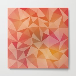 Geometric pyramids Metal Print