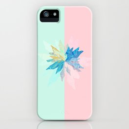 Floral Mint Pink iPhone Case